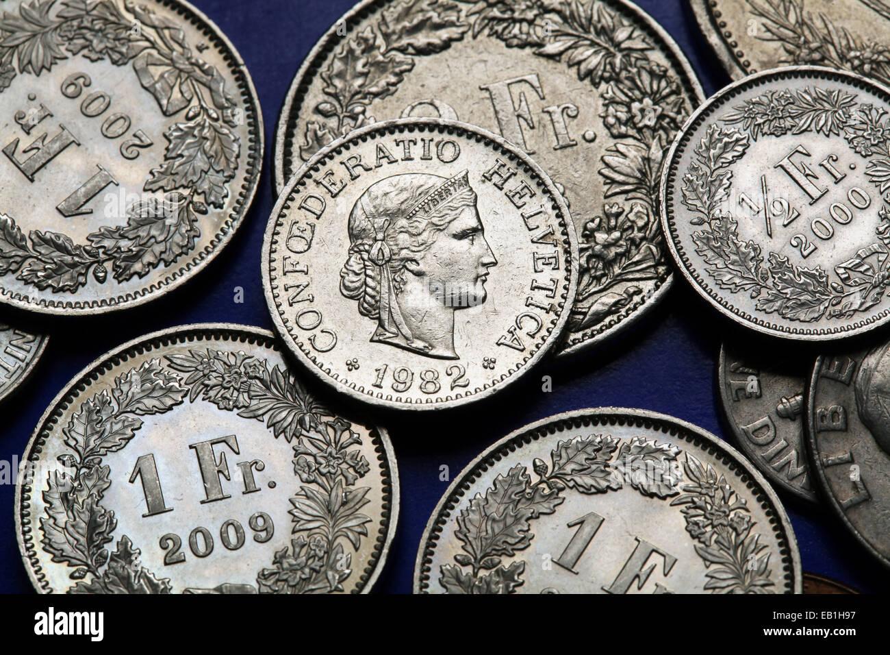 Münzen Münzen Währung Geld Libertas Stockfotos Münzen Münzen