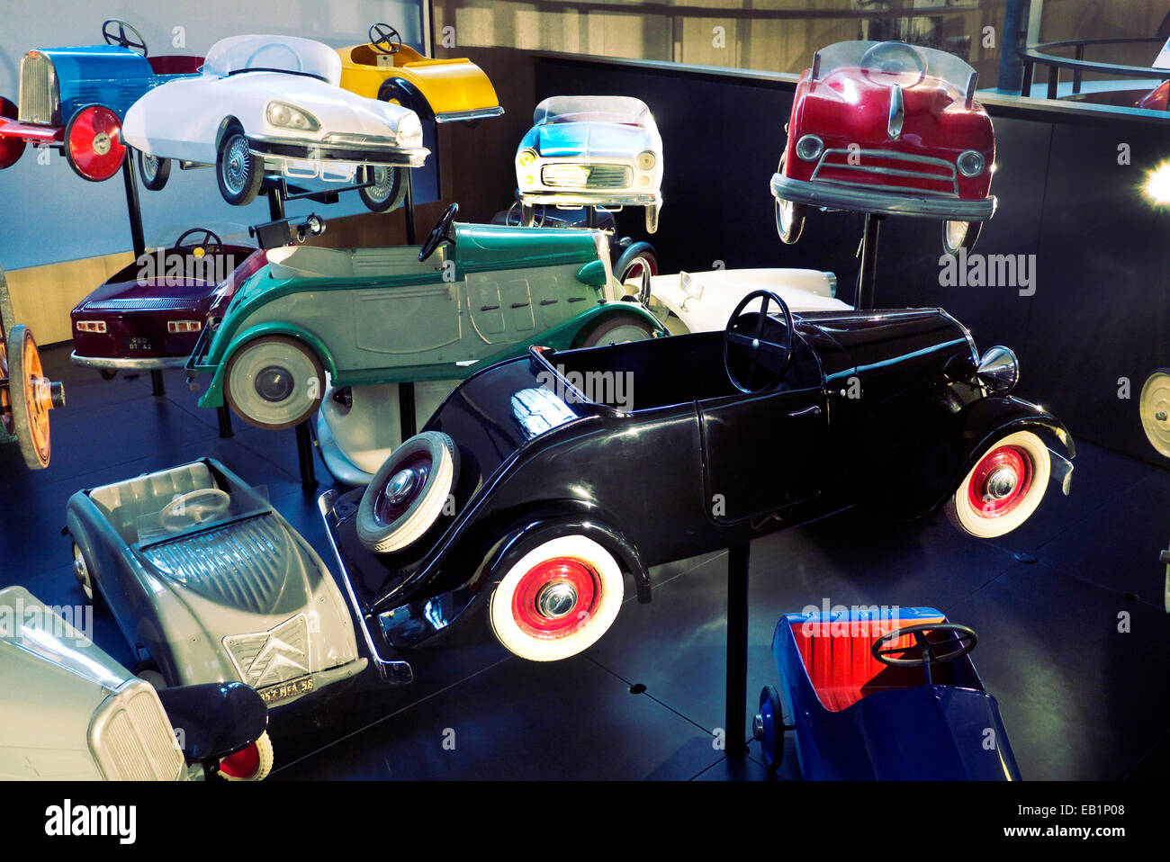 Cite De l ' Automobile National Museum Collection Schlumpf. Die Jammet Sammlung von Spielzeug-Autos Stockbild