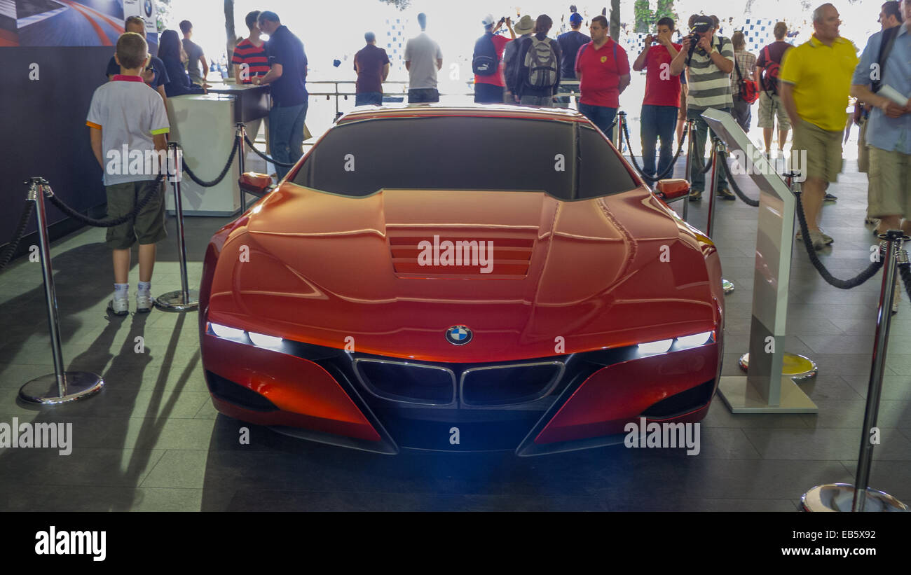 BMW-Sportwagen auf dem Goodwood Festival of Speed. Stockbild