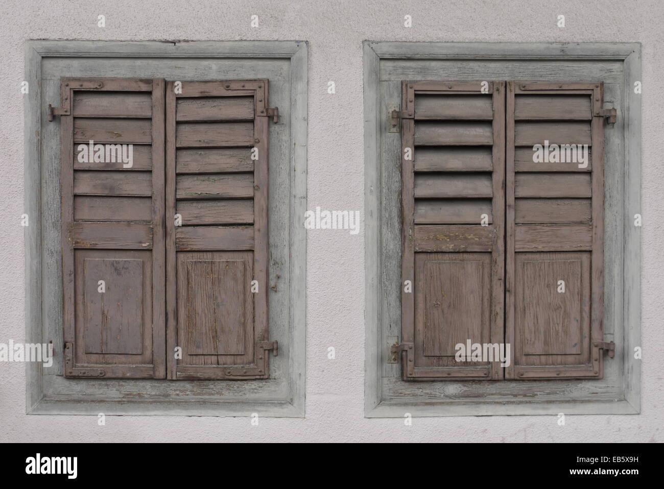 Zwillinge Von Vintage Veraltete Pastell Holzernen