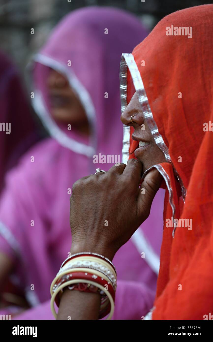 Indische Frauen Porträt Rajasthan Indien Stockfoto