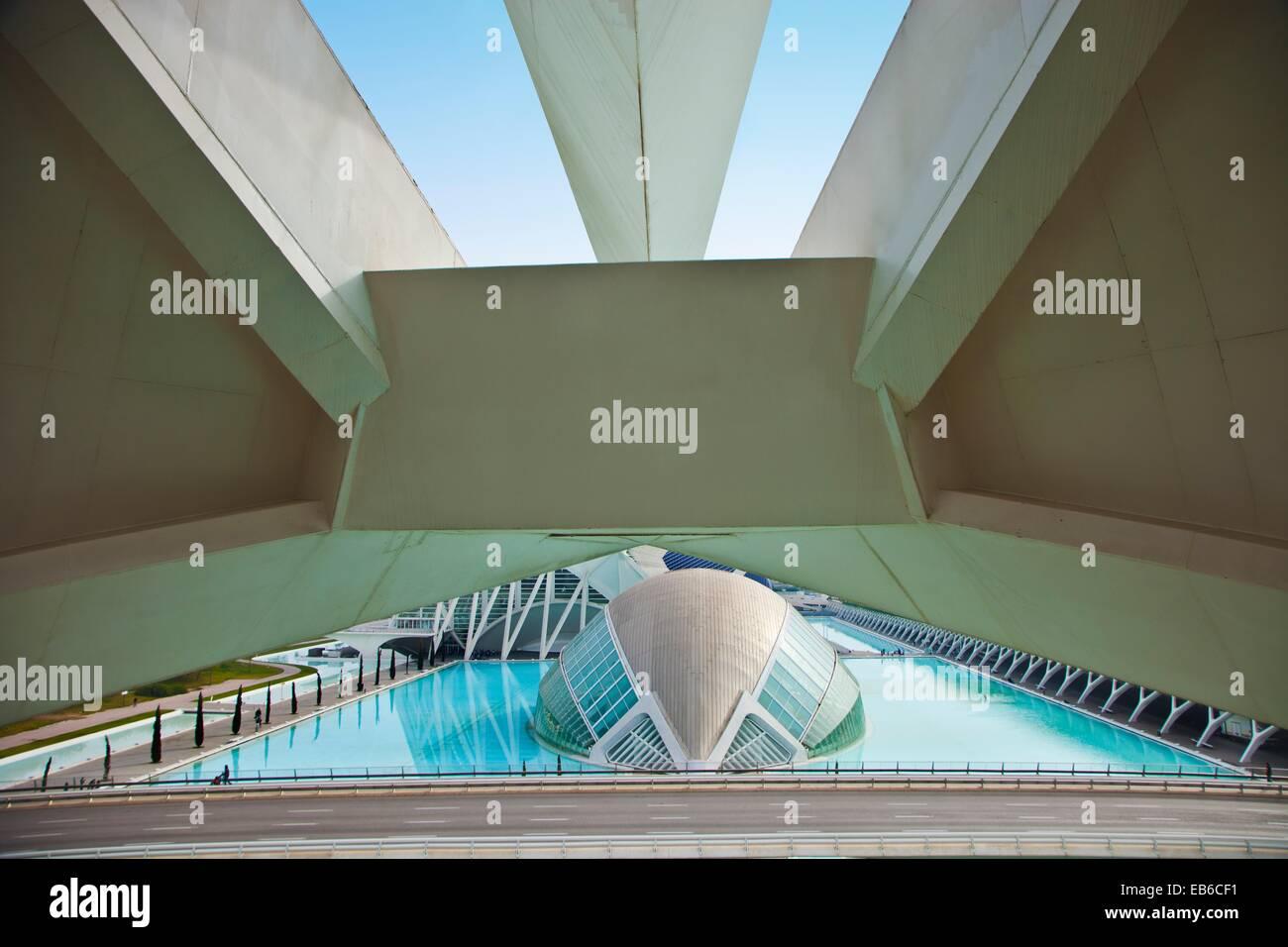 Hemisferic Stadt der Künste und Wissenschaften Architekt Santiago Calatrava Valencia Comunidad Valencia Spanien Stockbild