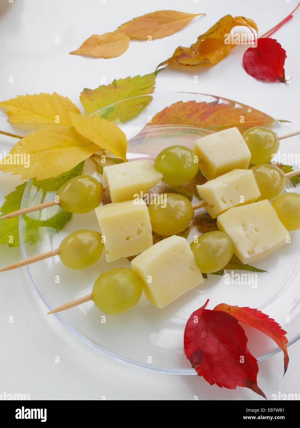 käse trauben spieße