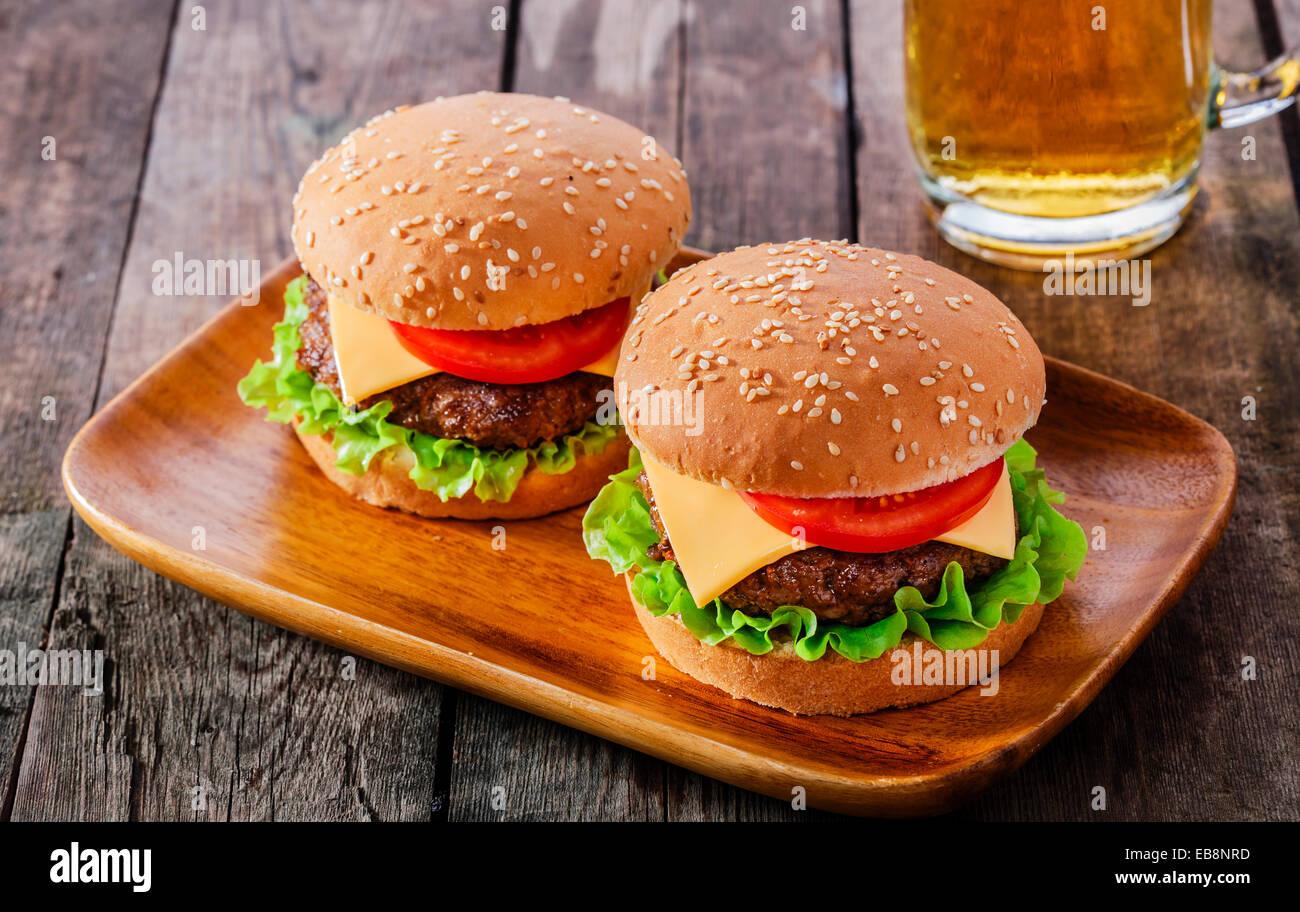 Mini-hamburger Stockbild