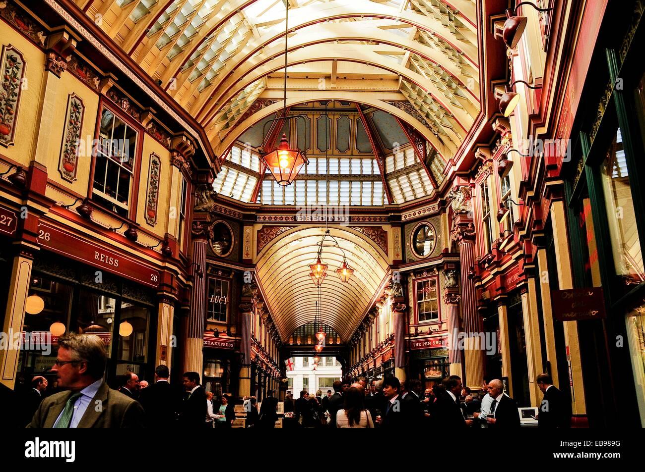 Leadenhall Market in der Stadt, London, England, Vereinigtes Königreich, Europa. Stockbild