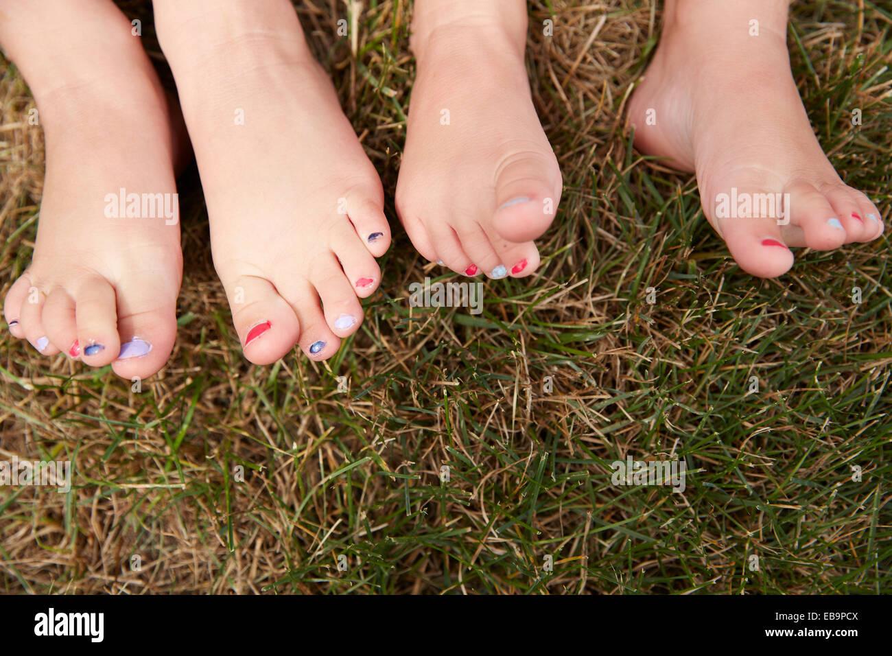 Füße schöne lackierte So bekommen