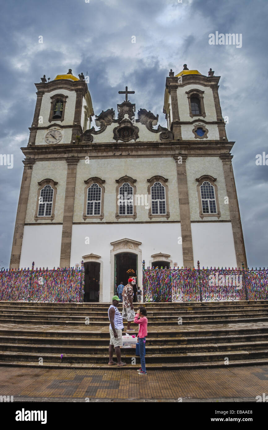 Kirche Nosso Senhor Bonfim, das Zentrum des beliebten Gottesdienstes in Salvador, Bahia, Brasilien Stockbild