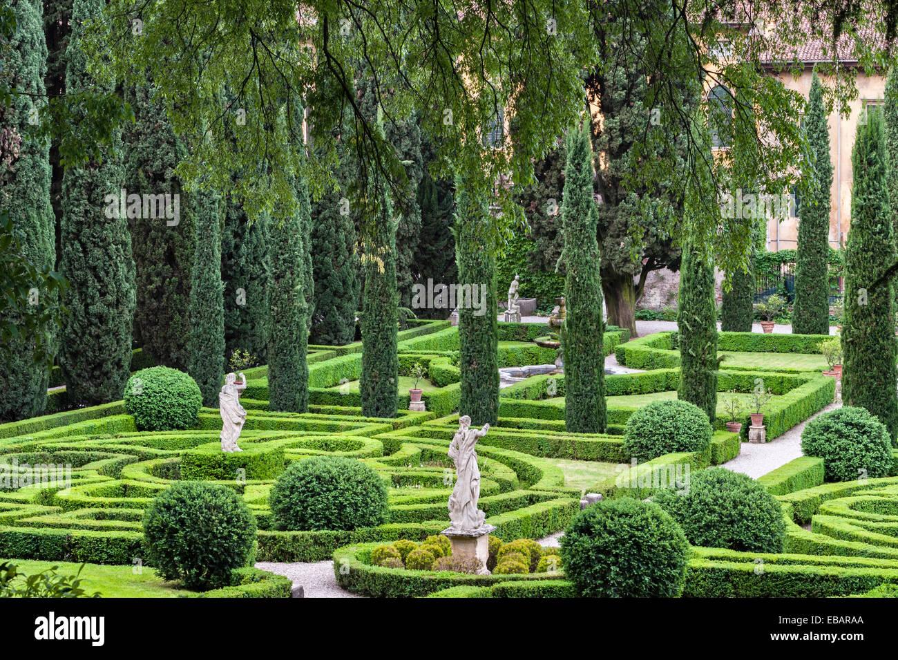 Die renaissance gärten der giardino giusti verona italien