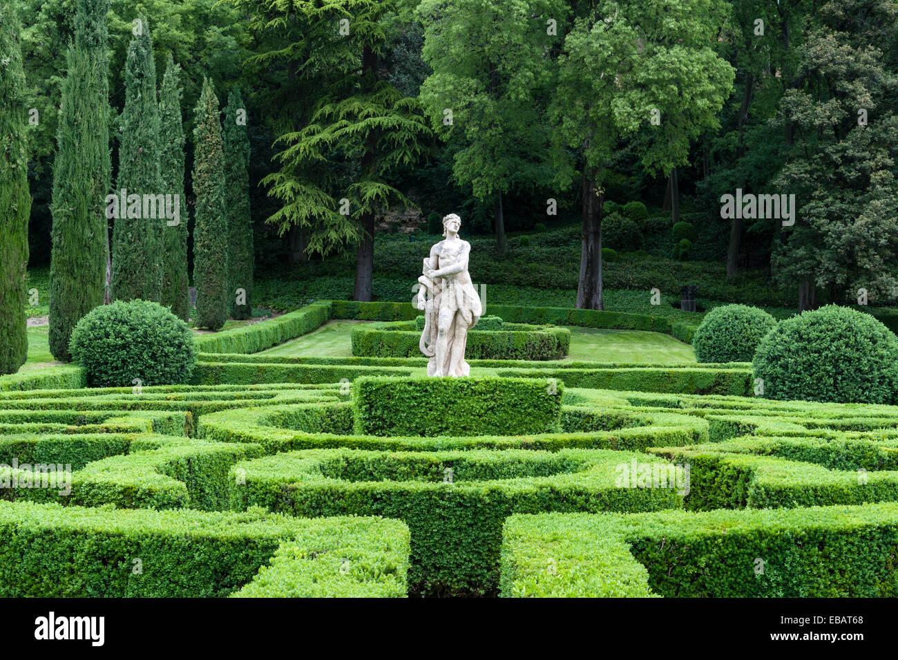 Die renaissance gärten der giardino giusti verona italien eine