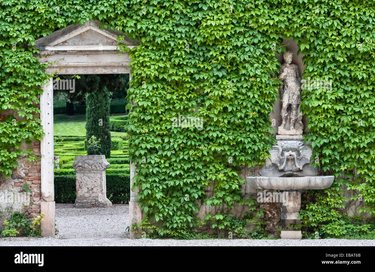 Die renaissance gärten der giardino giusti verona italien ein