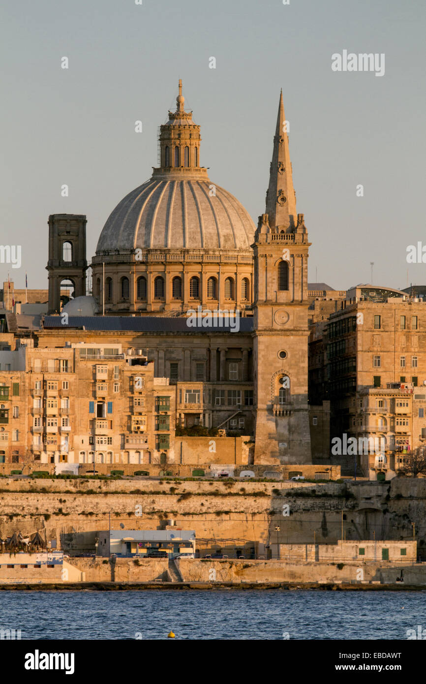 Goldene Stunde in Valletta, Malta. Stockbild