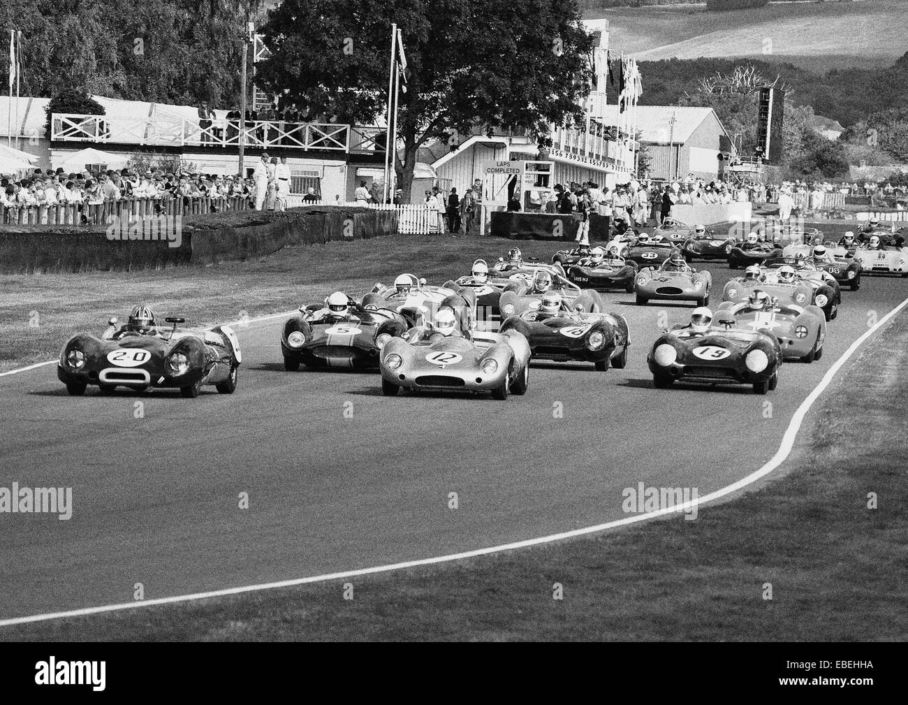 Beim Goodwood Revival 2007 Stockbild