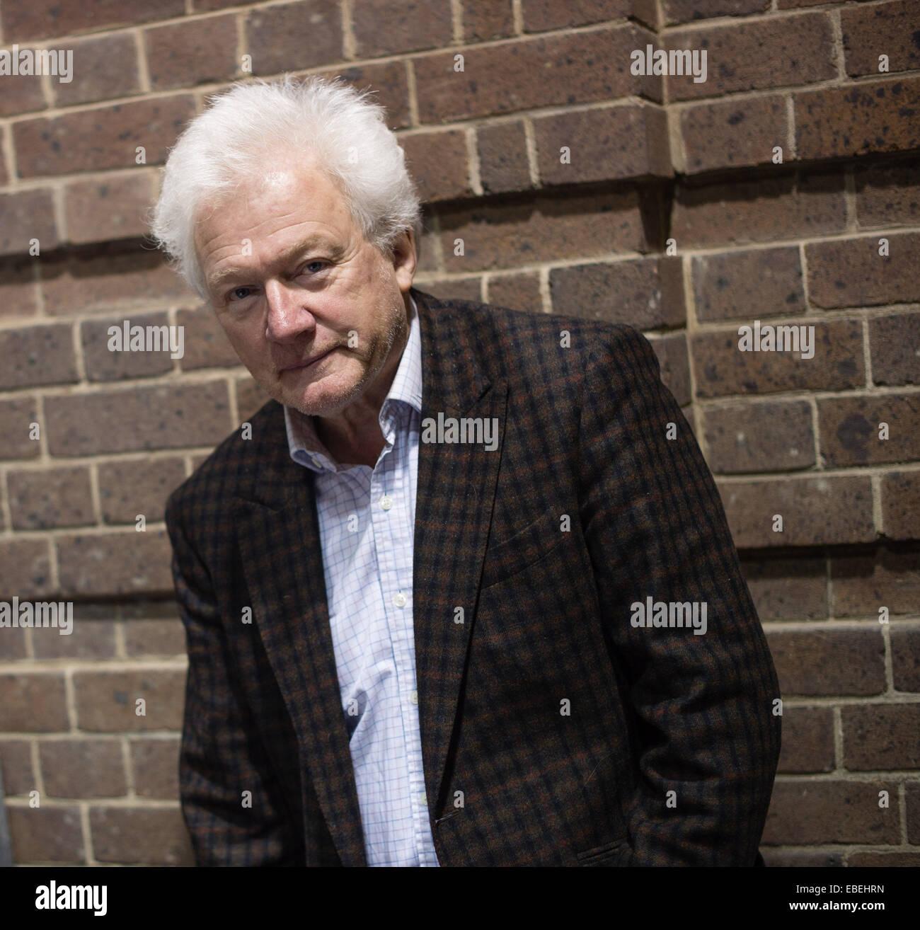 Aberystwyth Wales UK, Samstag, 29. November 2014 HOMER SYKES veteran Fotojournalist auf dem Objektiv 10-Festival Stockbild