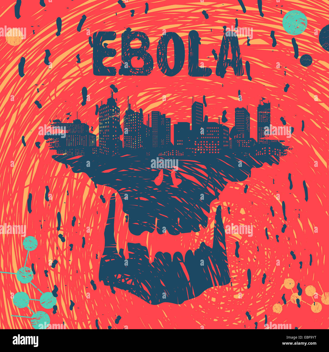 Ebola-Virus Symbol Dateiformat Eps 8 Stockbild