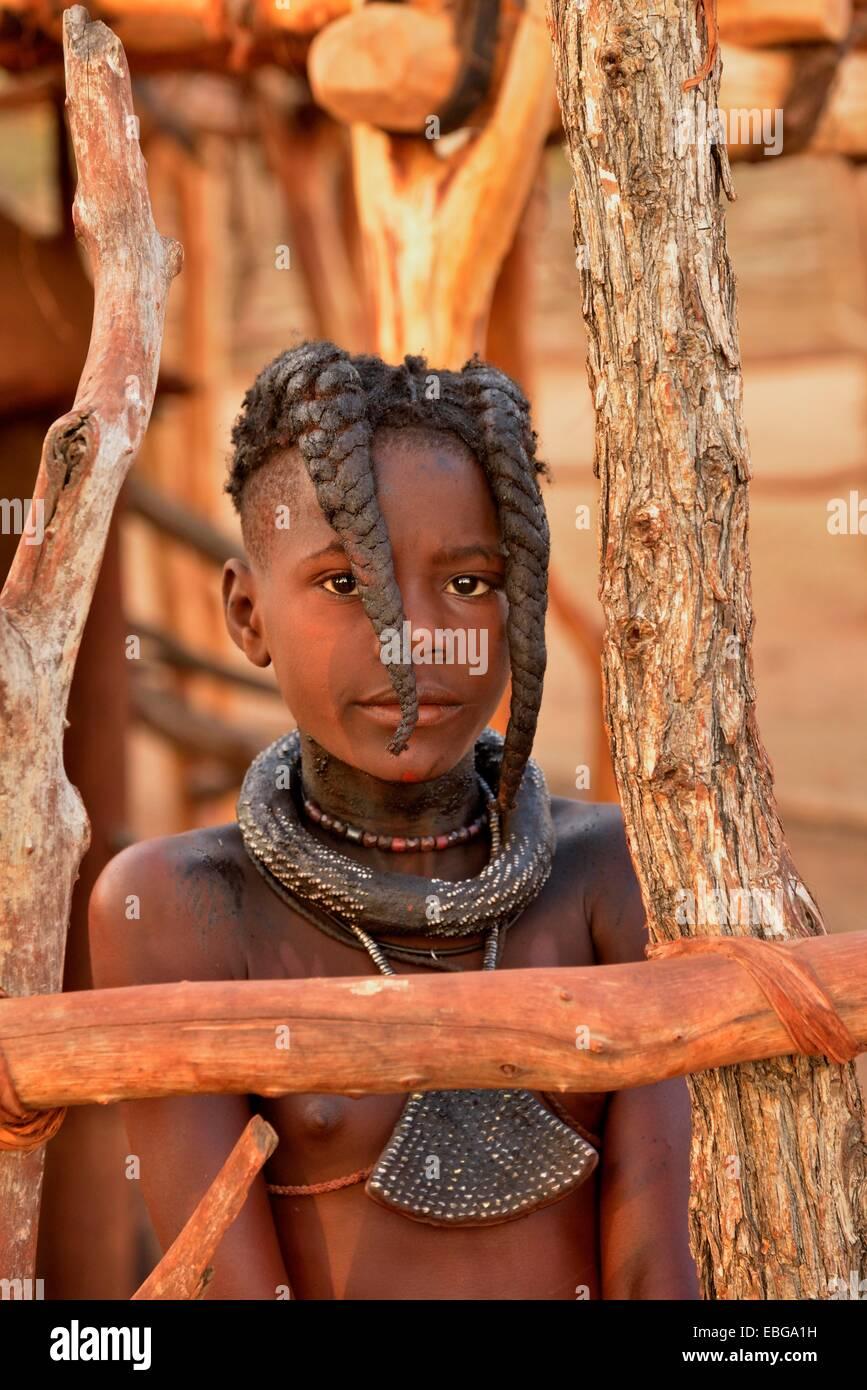 Himba M 228 Dchen Mit Typische Frisur Omuramba Kaokoland
