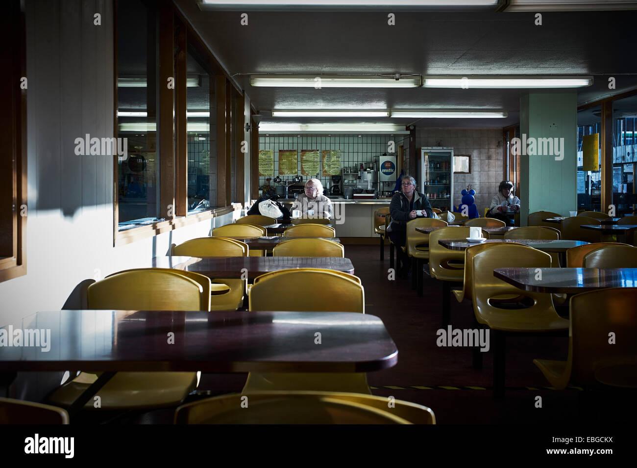 Cafe in Preston Busbahnhof Stockbild