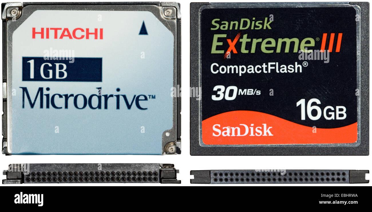 Compact Flash Karte.Oben Und Seitlich Blick Auf Eine Karte Cf Compact Flash Und Ein