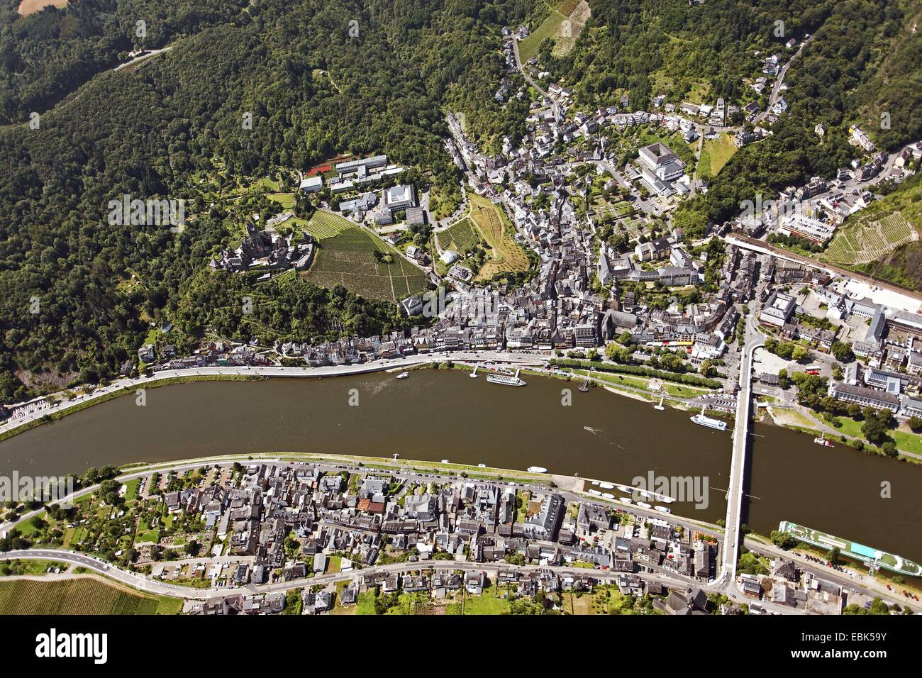 aerial view from castle district stockfotos aerial view from castle district bilder alamy. Black Bedroom Furniture Sets. Home Design Ideas