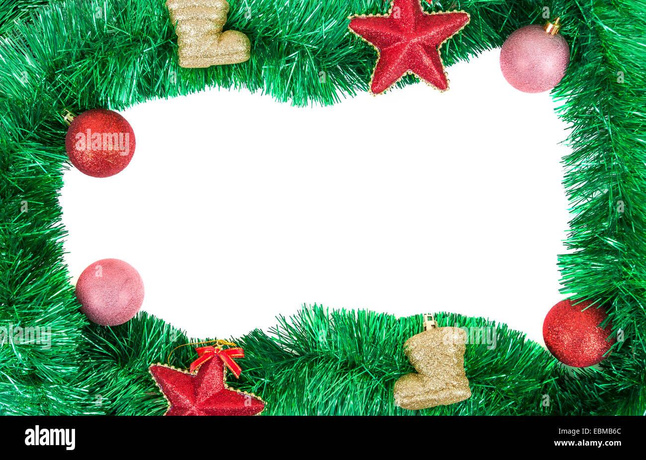 Christmas Frame Baubles Stockfotos & Christmas Frame Baubles Bilder ...