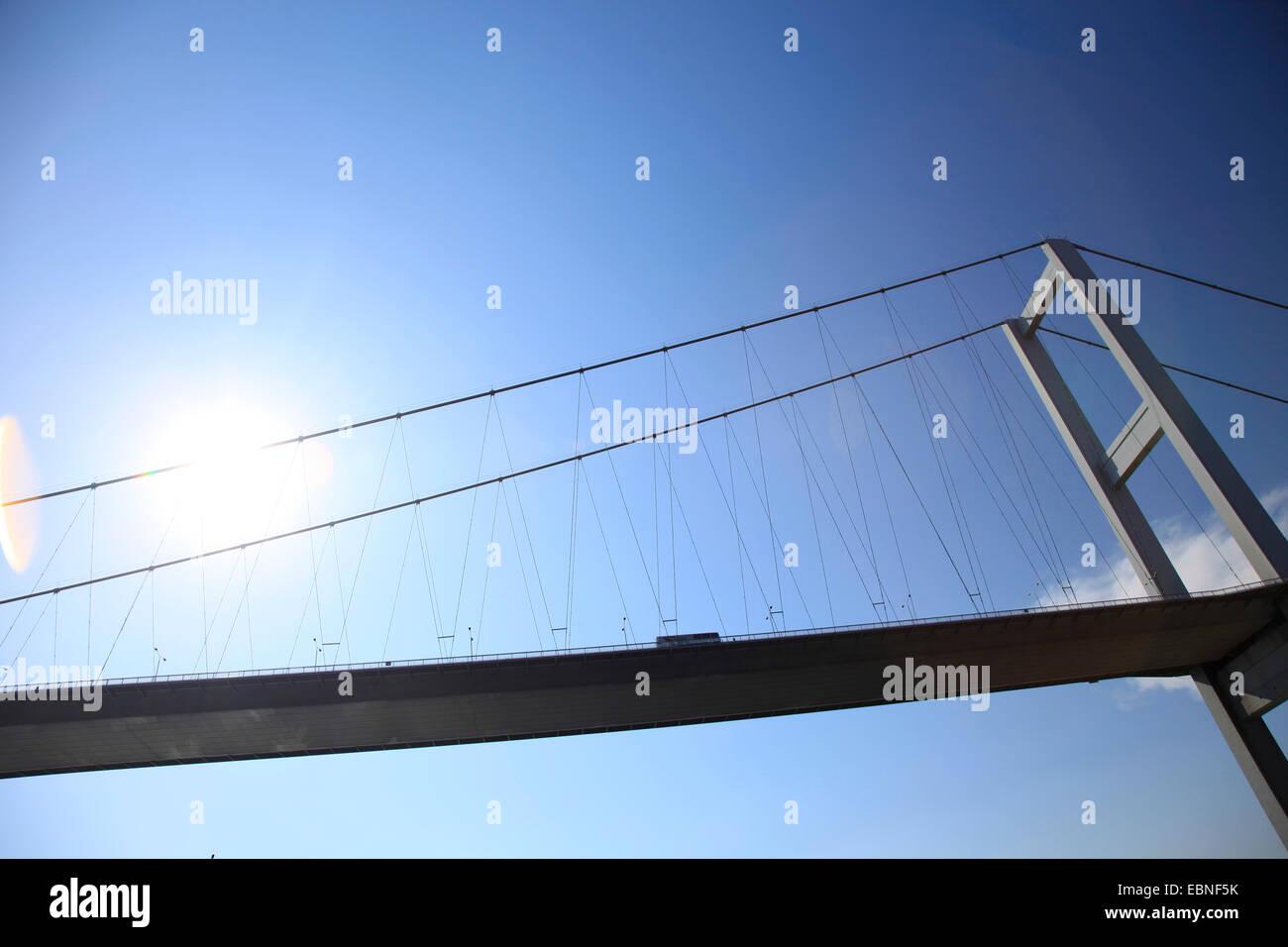 Bosporus-Brücke, Verbindung zwischen Asien und Europa, Türkei, Istanbul Stockbild