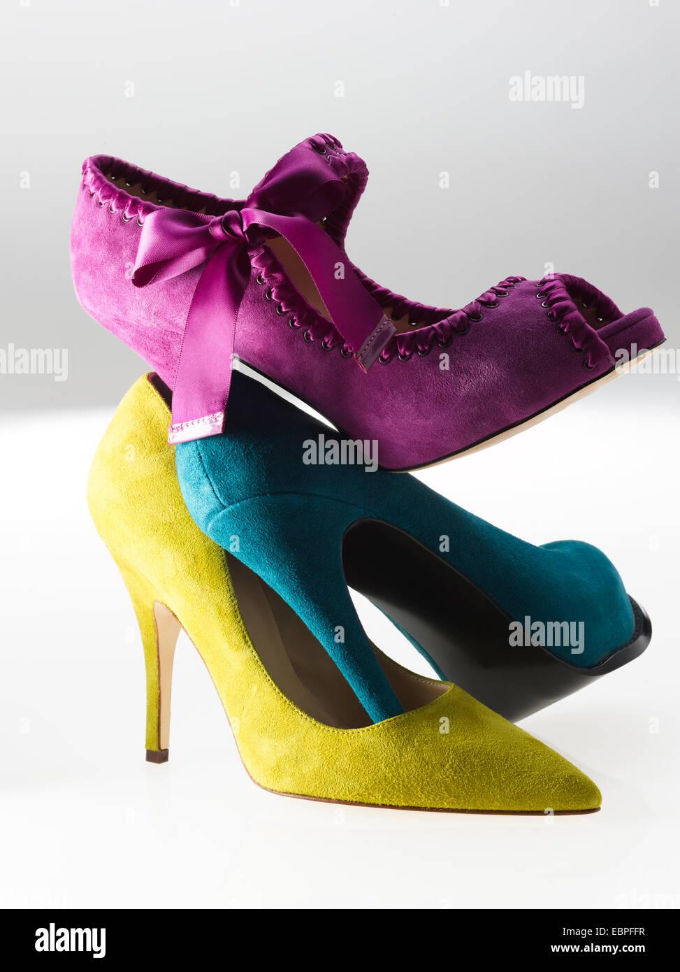 Wildleder Womens Schuhe Stockbild