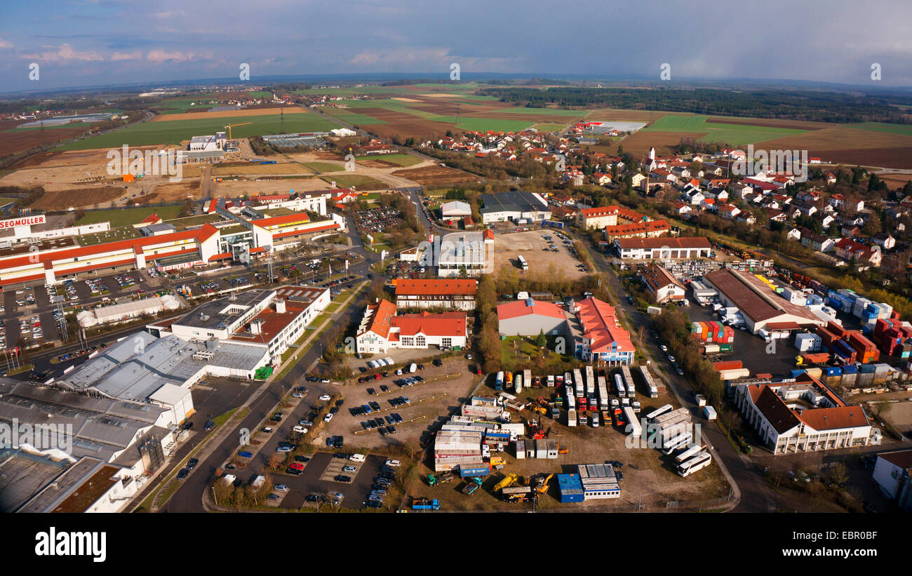 Luftbild Möbel Haus Deutschland Bayern Parsdorf Stockfoto Bild