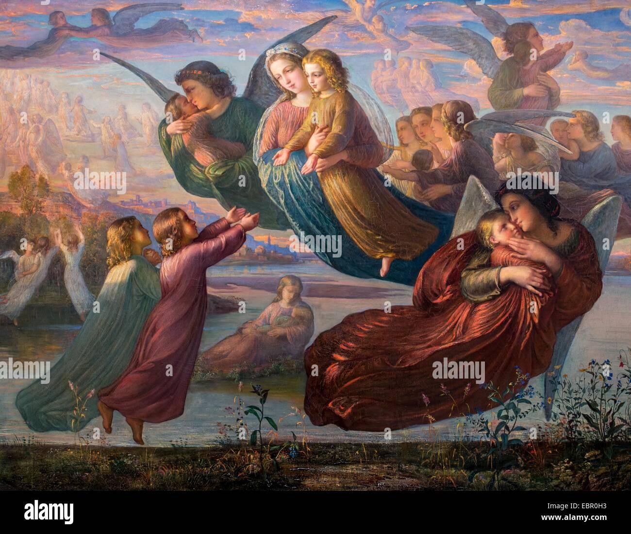 ActiveMuseum_0001459.jpg / Erinnerungen an den Himmel, ca. 1850 - Louis Janmot 21.08.2013 - / 19. Jahrhundert Sammlung Stockbild