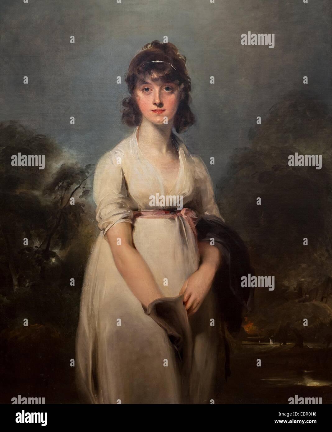 ActiveMuseum_0001581.jpg / Portrait von Miss Sweeting, 1800 - Sir Thomas Lawrence 21.08.2013 - / 19. Jahrhundert Stockbild