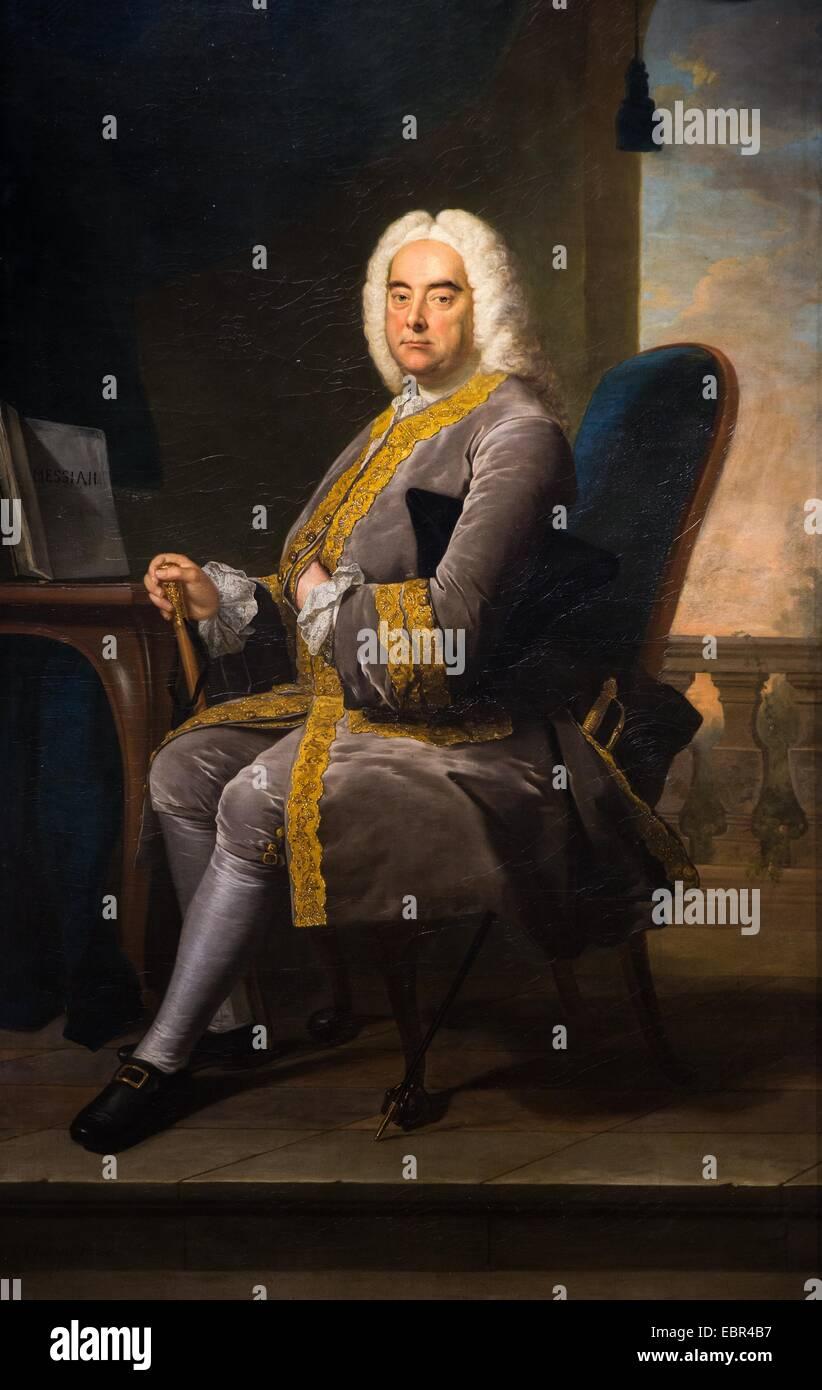 Georg Friedrich Händel, 1756 - Thomas Hudson Öl auf Leinwand 22.01.2014 - / 18. Jahrhundert Sammlung / Stockbild