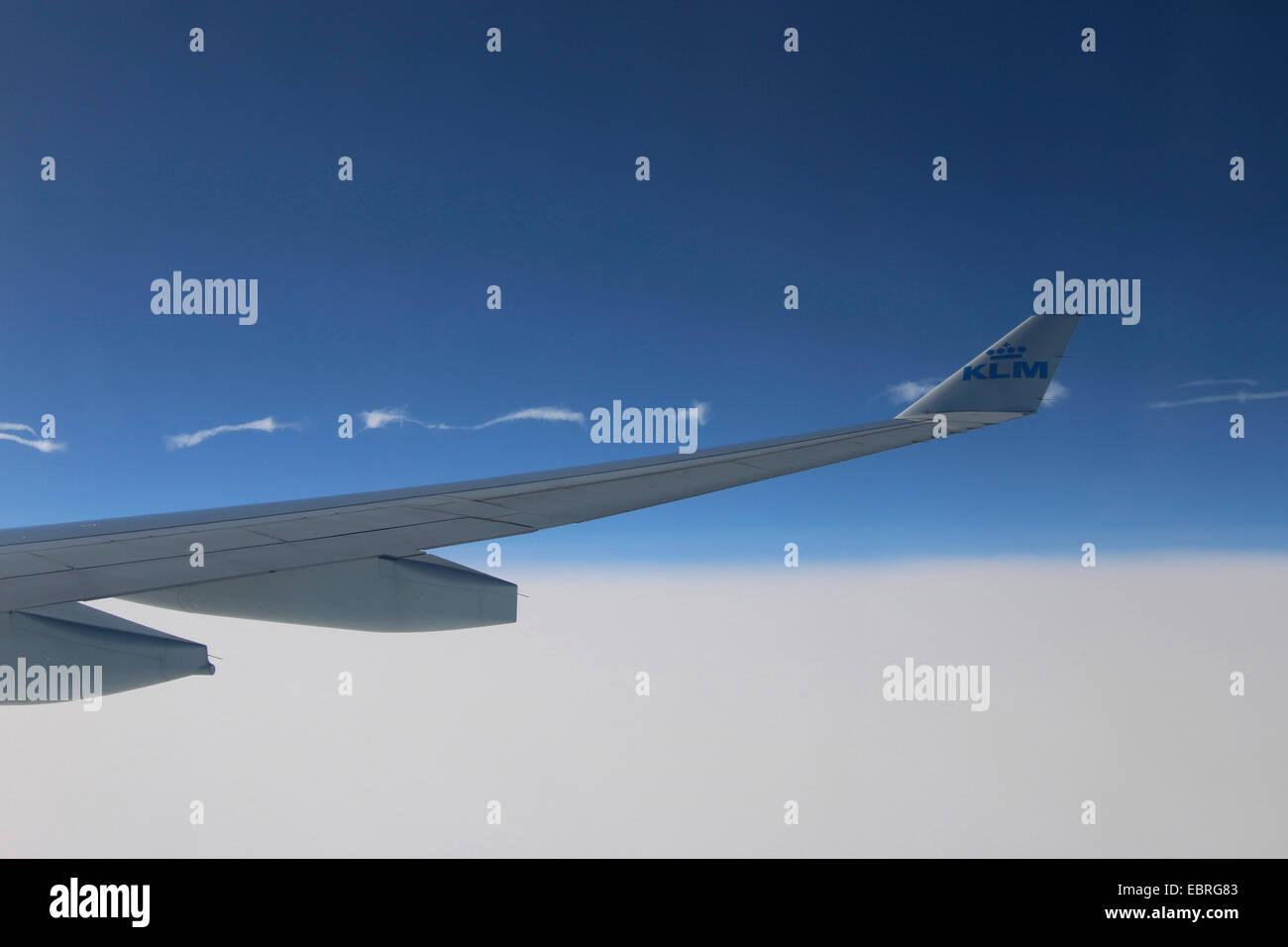 Luft-Folie und Kondensstreifen Stockbild