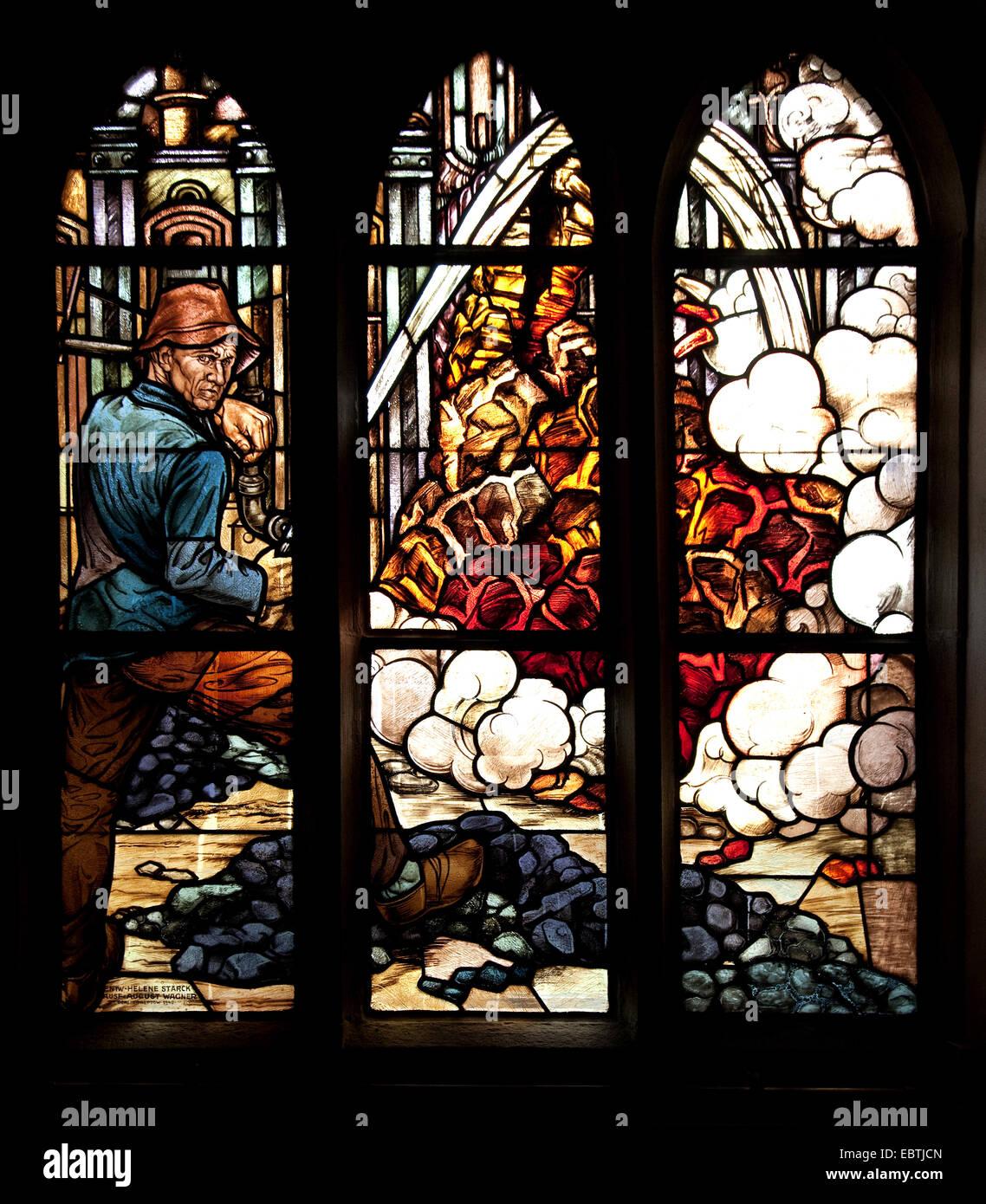 Fenster Bochum bunte fenster mit kohle bergmann thema der st vinzentius kirche