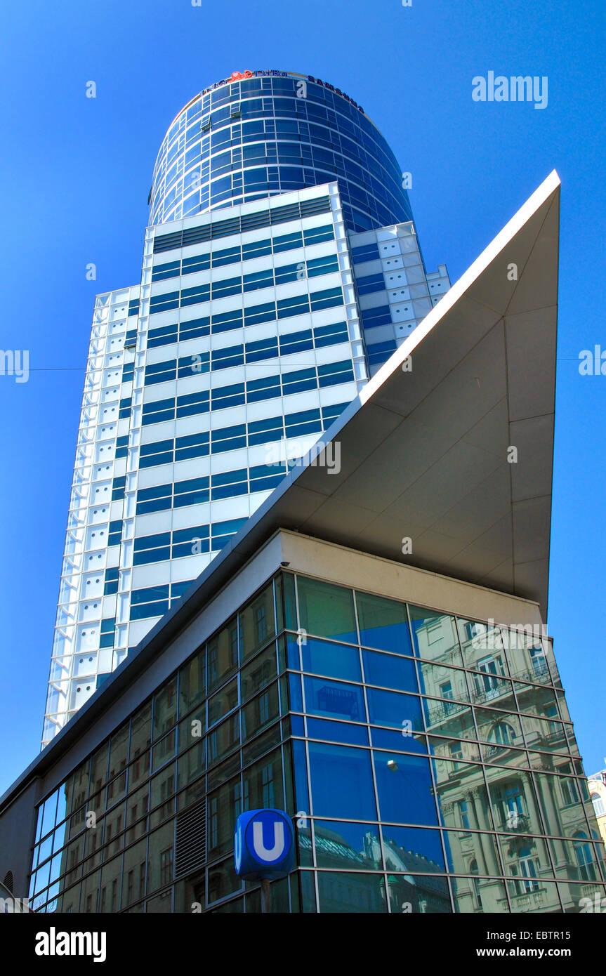 Galaxy Tower, Büro Turm an der Praterstraße, Österreich, Wien, Leopoldstadt Stockbild