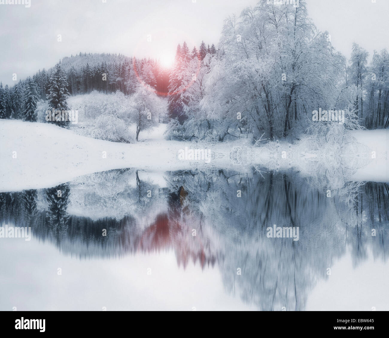 DE - Bayern: Winter Wonderland Stockfoto