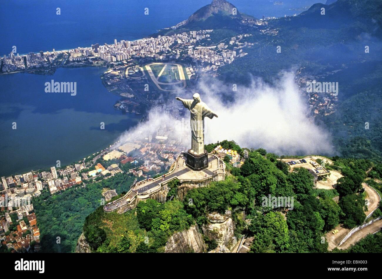 Luftbild Von Corcovado Christus Statue Brasilien Rio De Janeiro