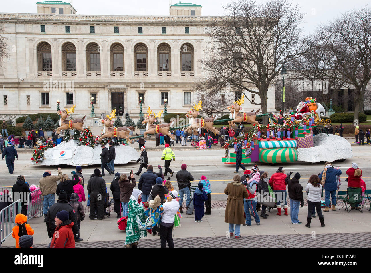 Detroits Thanksgiving Day Parade, offiziell genannt Amerikas Thanksgiving Parade. Stockbild