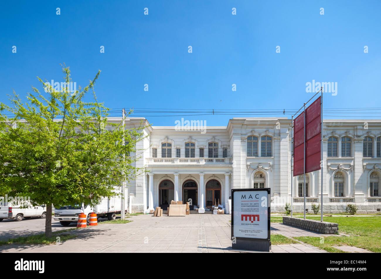 Museum für zeitgenössische Kunst MAC Santiago Chile. Lage MAC Quinta Normal. Museo de Arte Contemporaneo Stockbild