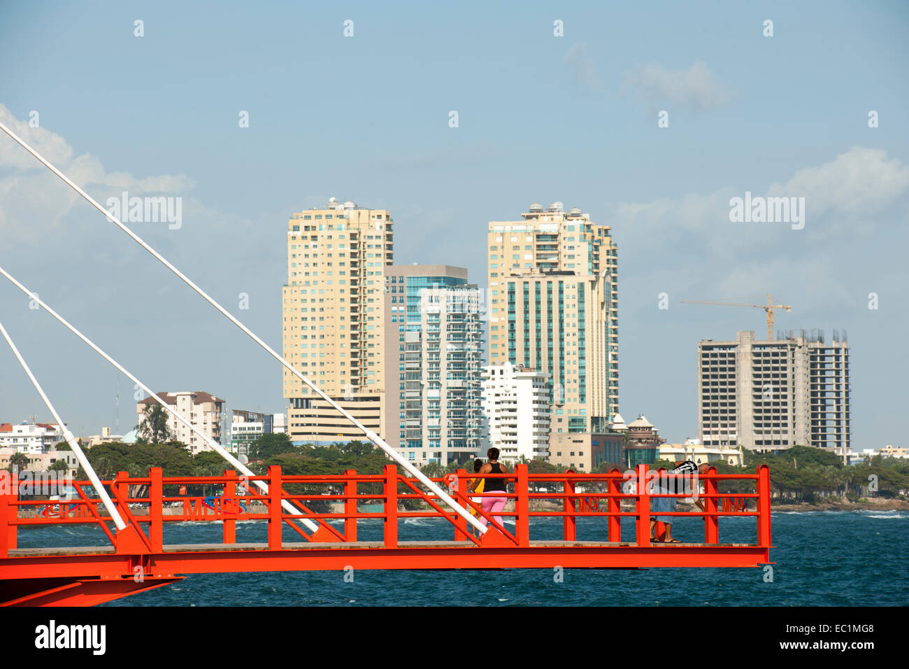 Dominikanische Republik, Santo Domingo, El Malecon (Avenida George Washington), Stockbild
