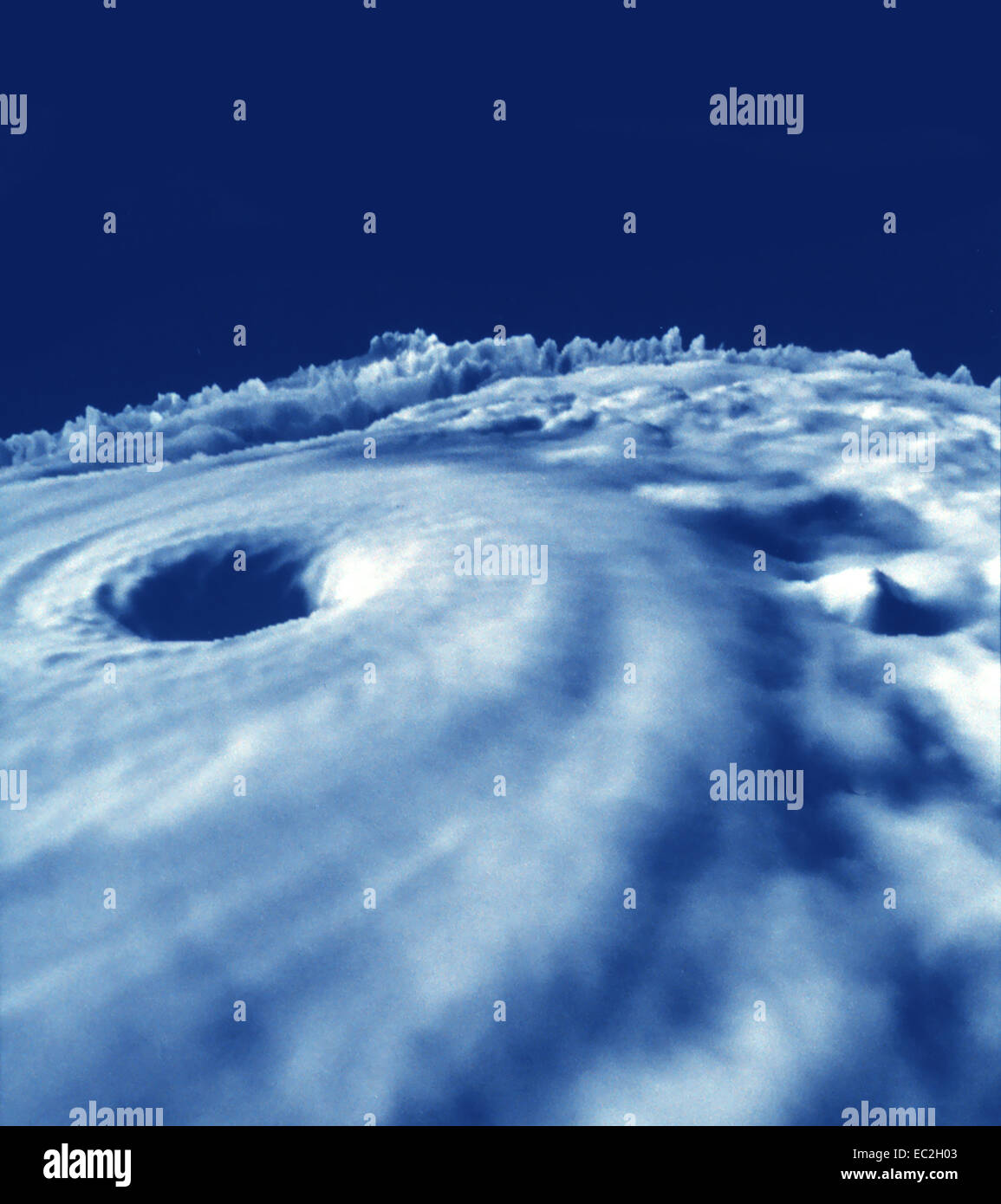 Auge des Hurrikans Dianna 1984 Stockbild