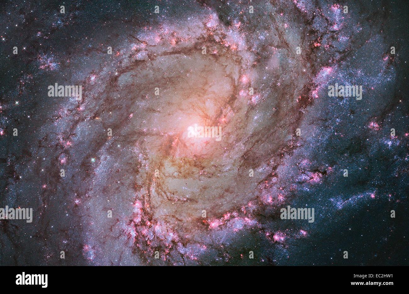 NASA Hubble-Bild der Spiralgalaxie Stockbild