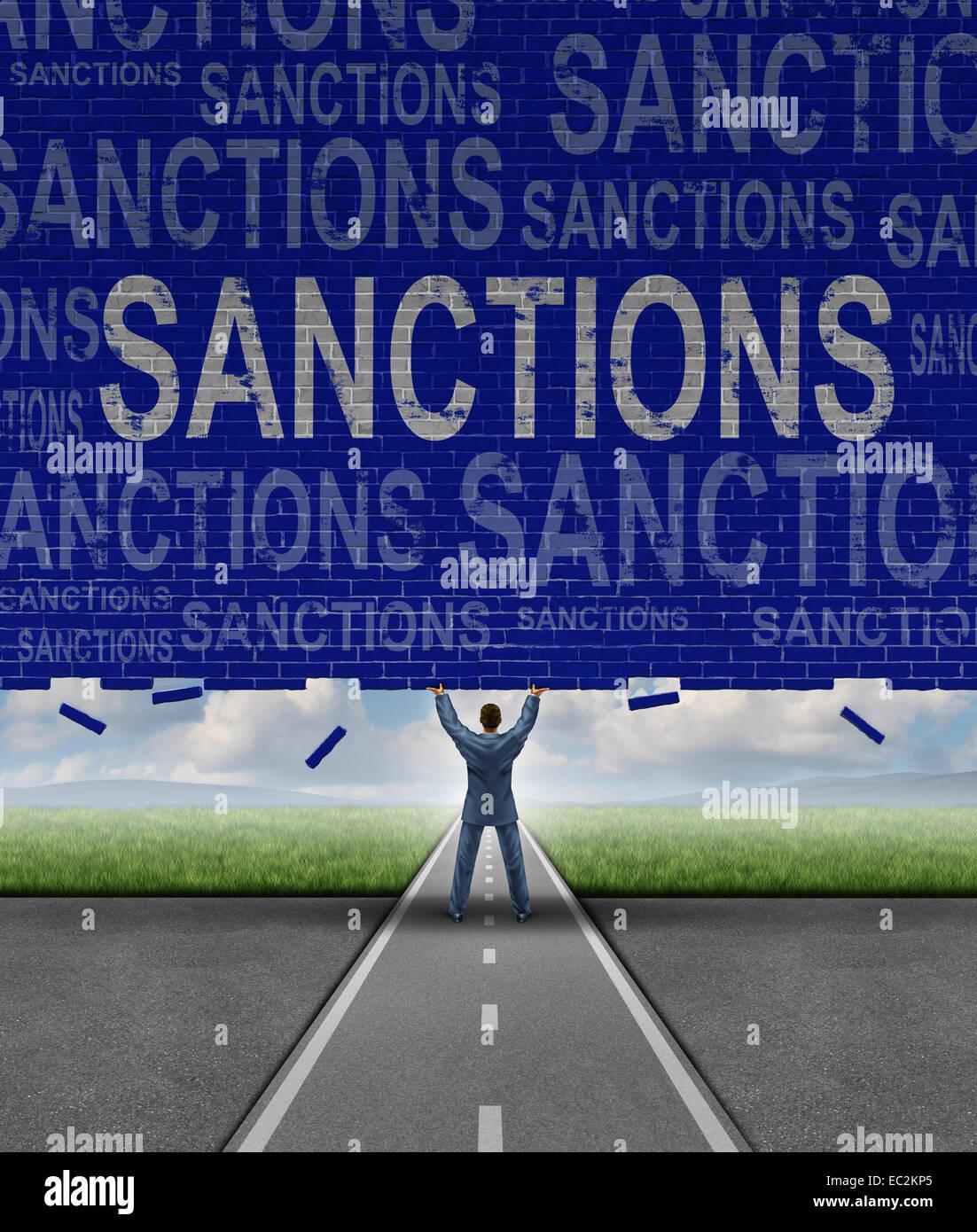 Sanktionen Englisch