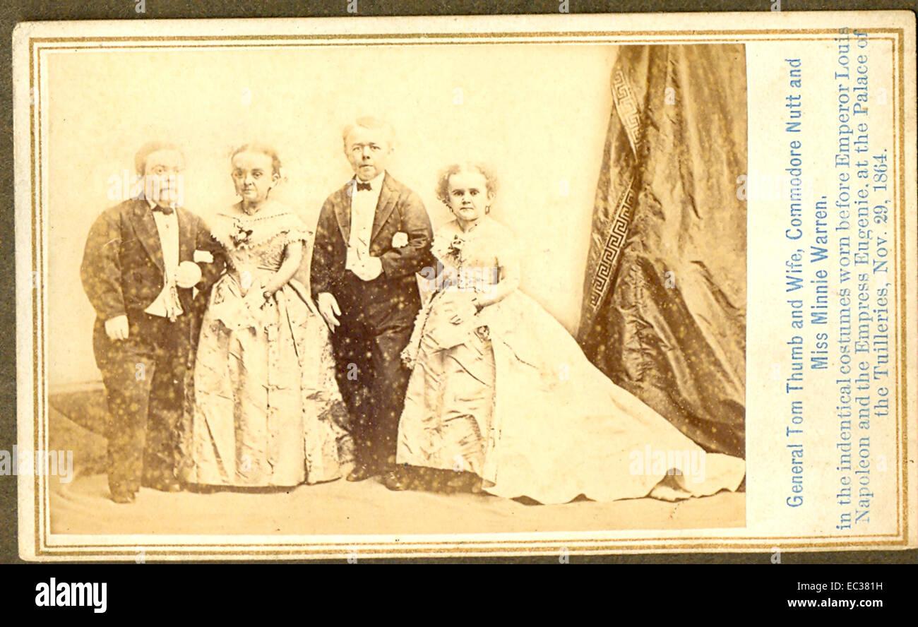 Carte De Visite Foto Von General Tom Thumb Charles S Stratton Und Frau