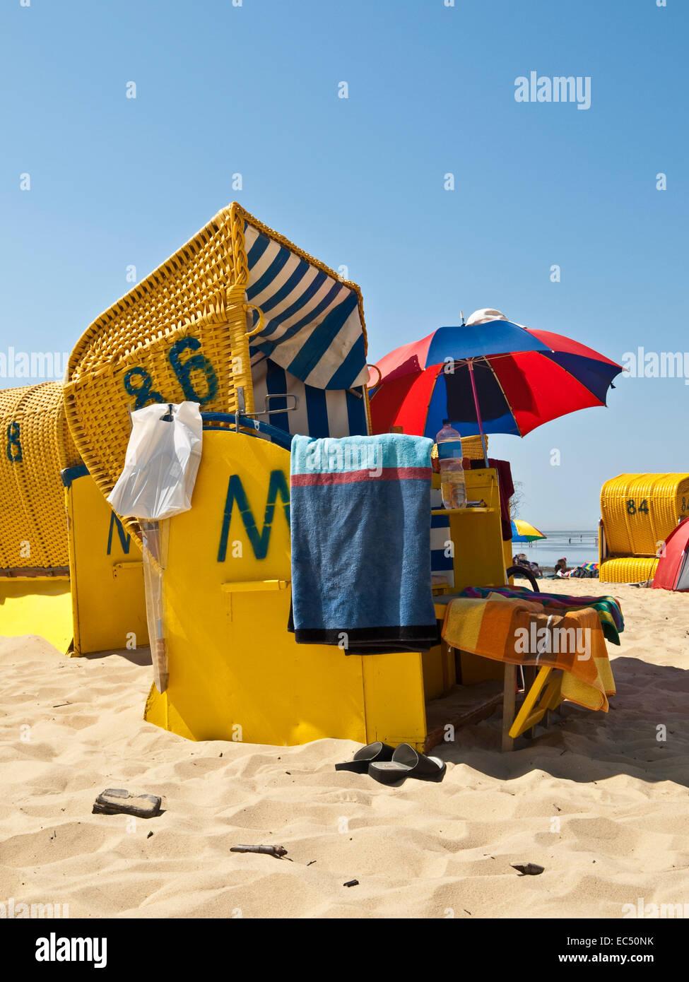 Strandurlaub in Cuxhaven, senken Niedersachsen, Deutschland ...