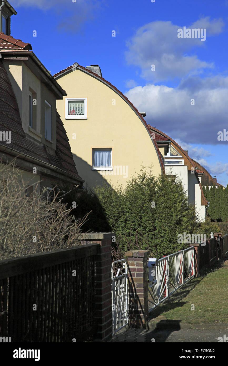 markanten Kuppeldach mit Reihenhäusern, Thüringen Stockbild