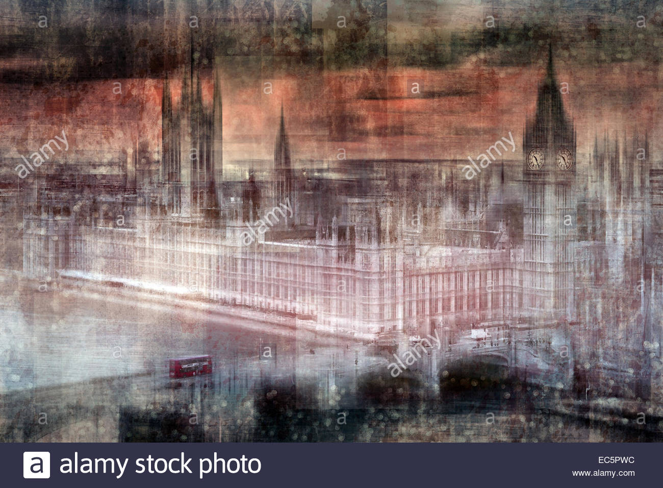 Digital-Art LONDON Westminster II Stockbild