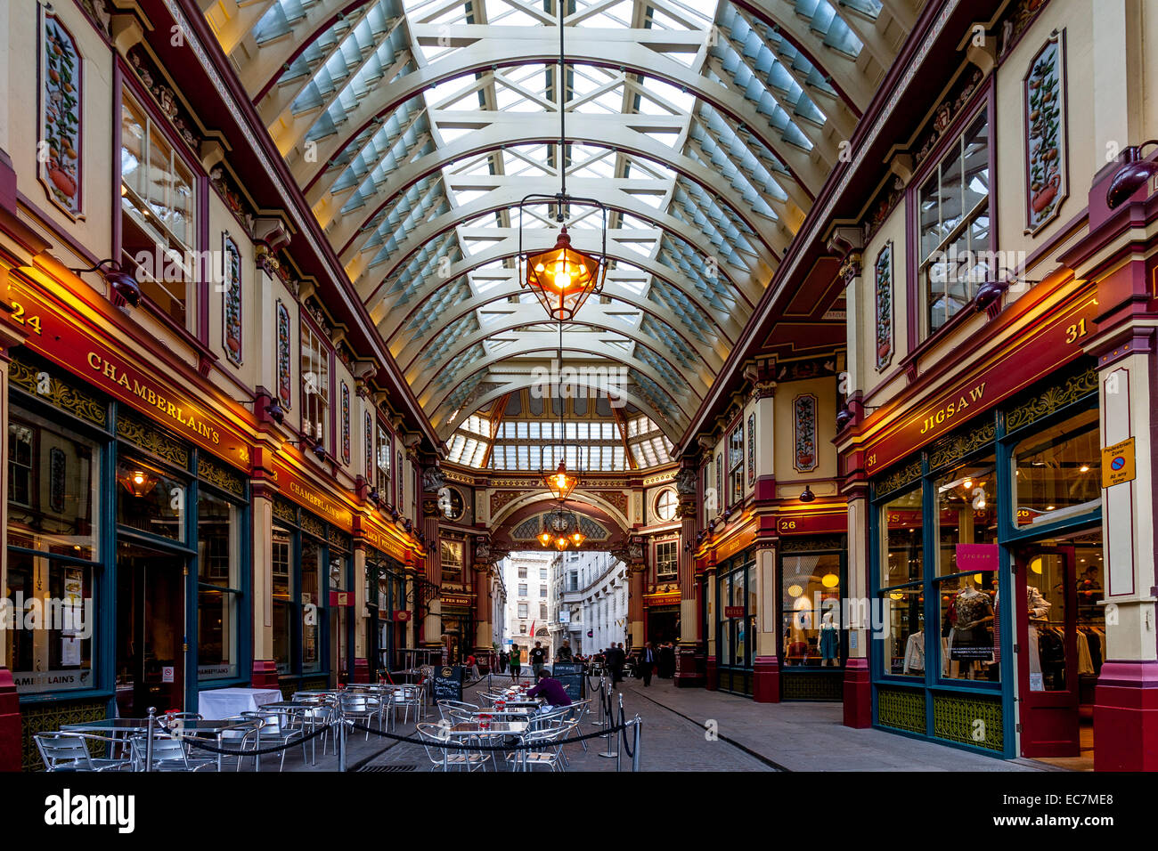 Leadenhall Market Interieur, London, England Stockbild