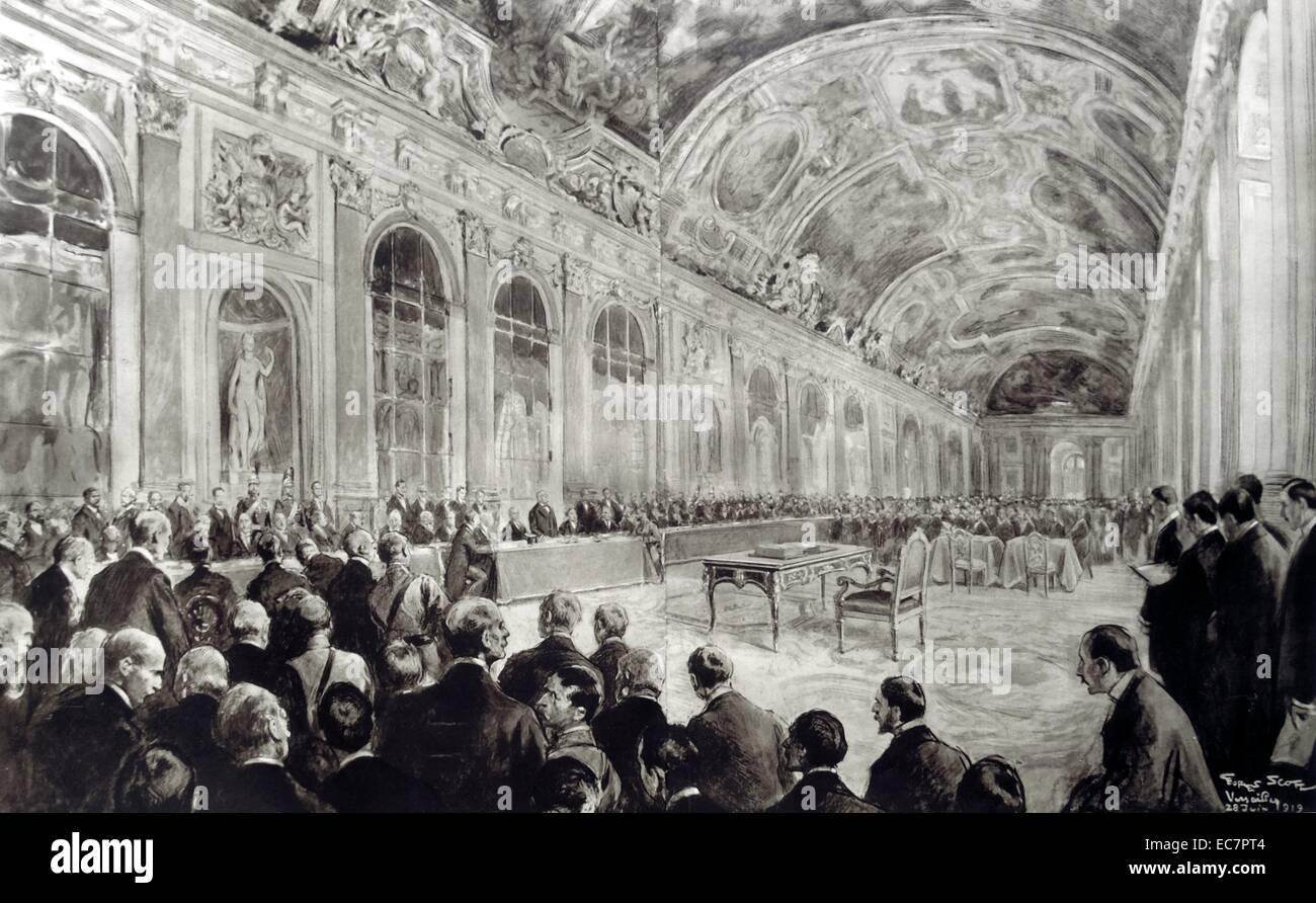Vertrag Von Versailles Ist Von Den Delegierten Zur Friedenskonferenz