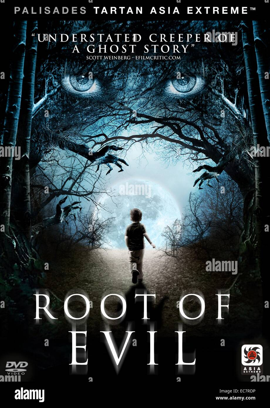 Wurzel des Bösen DVD-cover Stockbild