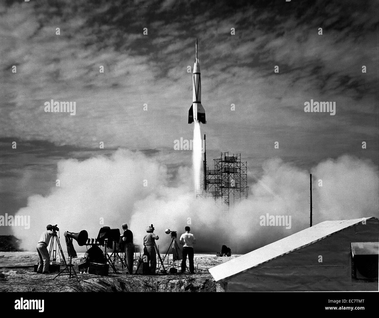 Der erste US-Test von erbeuteten deutschen V2 Stockbild