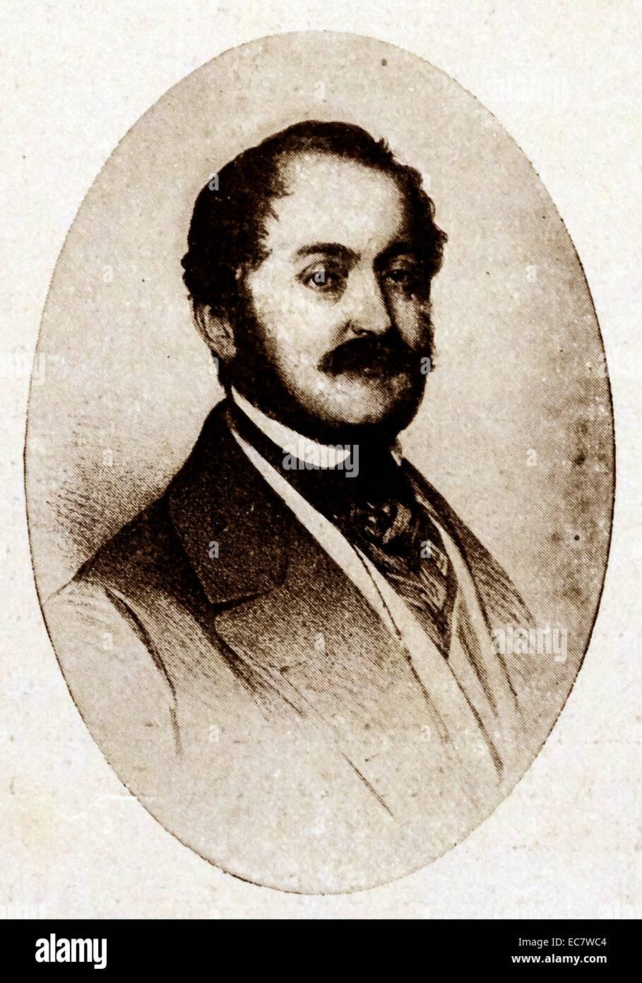 Carl;   Prinz von Leiningen war der mütterlichen Halbbruder von Königin Victoria Stockbild