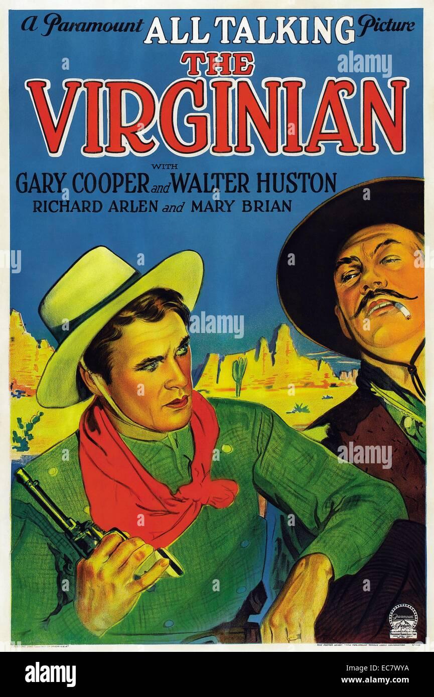 Der Virginian: 1929 Western film starring Gary Cooper Stockbild